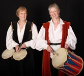 Pat and Anne with drums