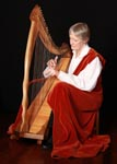 Anne with harp